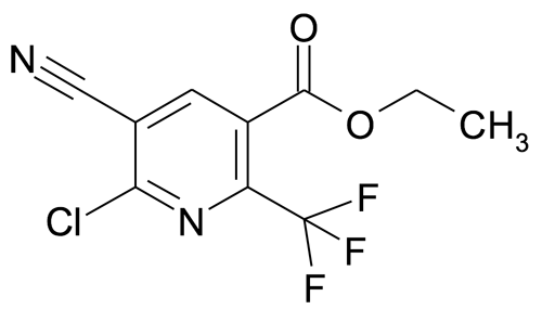 Ethyl 6-chloro-5-cyano-2-(trifluoromethyl)nicotinate