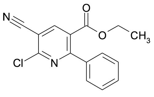 Ethyl 6-chloro-5-cyano-2-phenylnicotinate