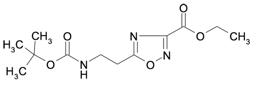 Ethyl 5-(2-tert-butyloxycarbonylaminoethyl)-[1,2,4]oxadiazole-3-carboxylate
