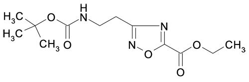 Ethyl 3-(2-tert-butyloxycarbonylaminoethyl)-[1,2,4]oxadiazole-5-carboxylate