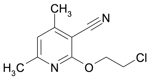 2-(2-Chloroethoxy)-4,6-dimethylnicotinonitrile