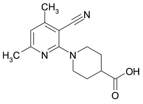 1-(3'-Cyano-4',6'-dimethylpyridin-2'-yl)-iso-nipecotic acid