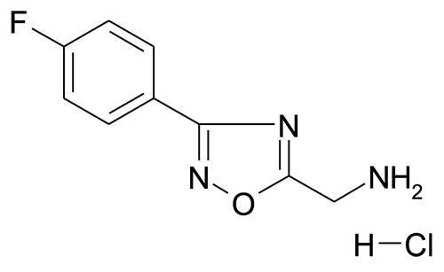 5-Aminomethyl-3-(4-fluorophenyl)-[1,2,4]oxadiazole; hydrochloride