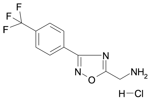 5-aminomethyl-3-(4-(trifluoromethyl)phenyl)-[1,2,4]oxadiazole; hydrochloride