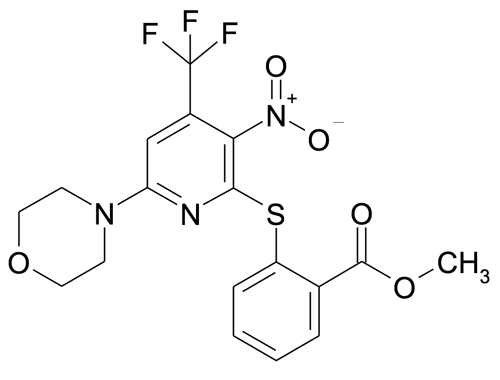 2-(6-Morpholin-4-yl-3-nitro-4-trifluoromethyl-pyridin-2-ylsulfanyl)-benzoic acid methyl ester