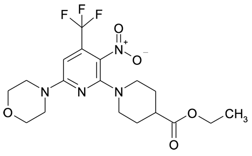 6'-Morpholin-4-yl-3'-nitro-4'-trifluoromethyl-3,4,5,6-tetrahydro-2H-[1,2']bipyridinyl-4-carboxylic acid ethyl ester