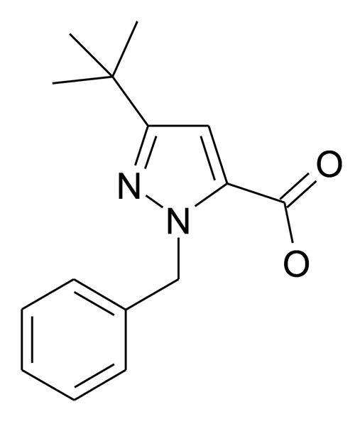 2-Benzyl-5-tert-butyl-2H-pyrazole-3-carboxylic acid