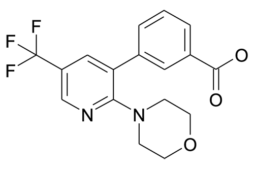 3-(2-Morpholin-4-yl-5-trifluoromethyl-pyridin-3-yl)-benzoic acid