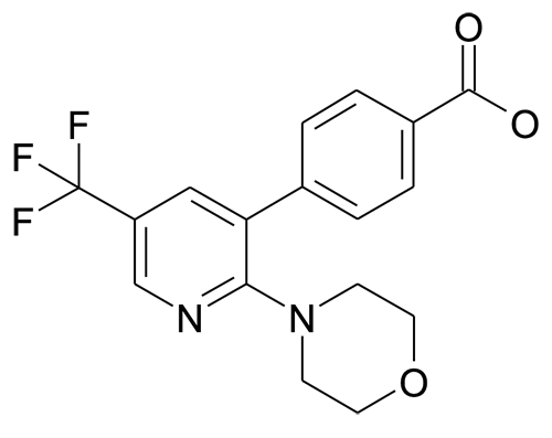 4-(2-Morpholin-4-yl-5-trifluoromethyl-pyridin-3-yl)-benzoic acid