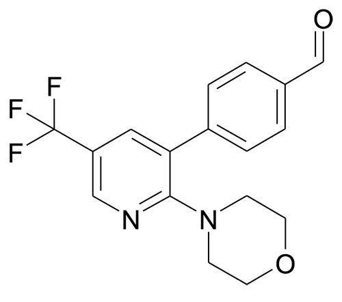 4-(2-Morpholin-4-yl-5-trifluoromethyl-pyridin-3-yl)-benzaldehyde