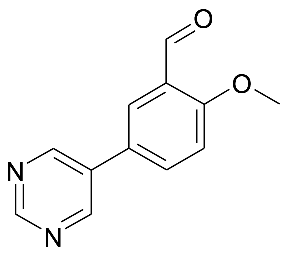 2-Methoxy-5-pyrimidin-5-yl-benzaldehyde