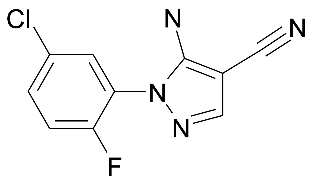 5-Amino-1-(5-chloro-2-fluoro-phenyl)-1H-pyrazole-4-carbonitrile