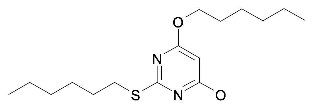 6-Hexyloxy-2-hexylsulfanyl-pyrimidin-4-ol