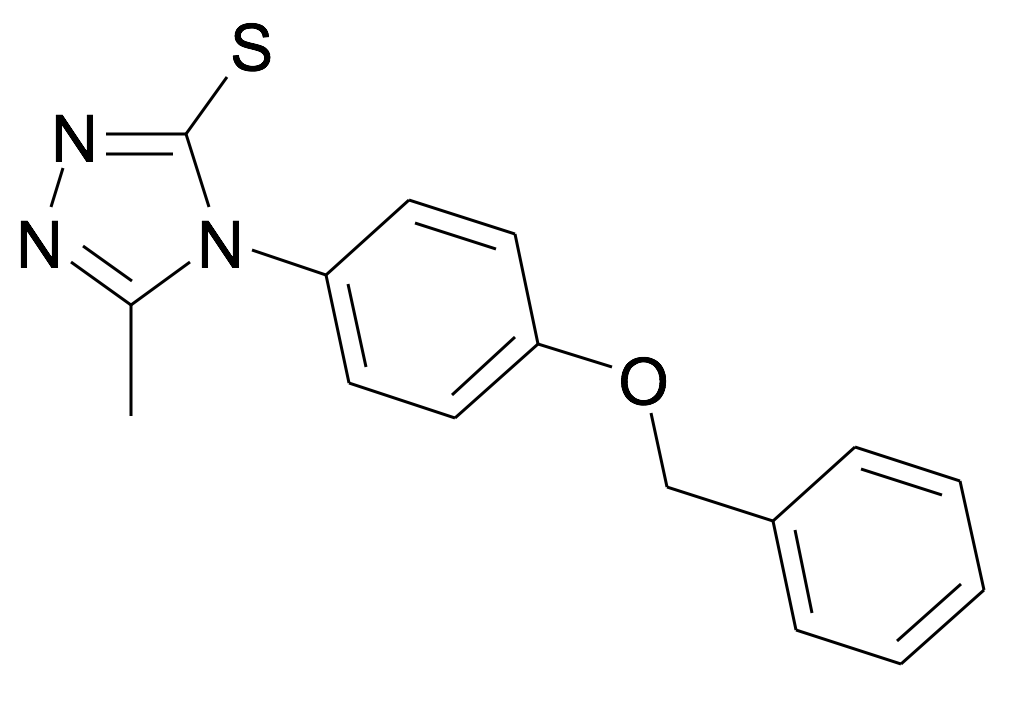 4-(4-Benzyloxy-phenyl)-5-methyl-4H-[1,2,4]triazole-3-thiol