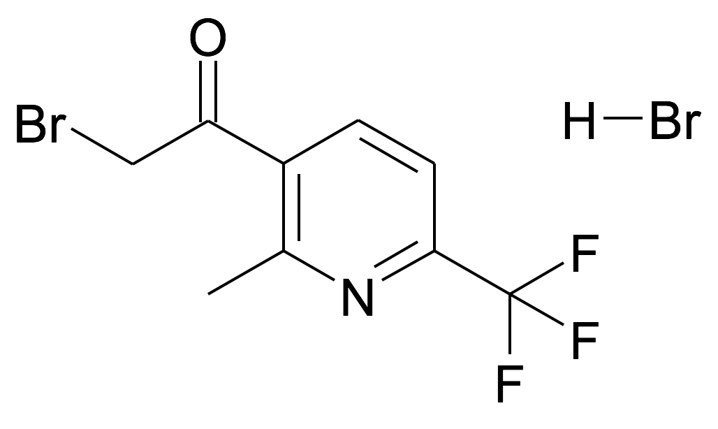 2-Bromo-1-(2-methyl-6-trifluoromethyl-pyridin-3-yl)-ethanone; hydrobromide