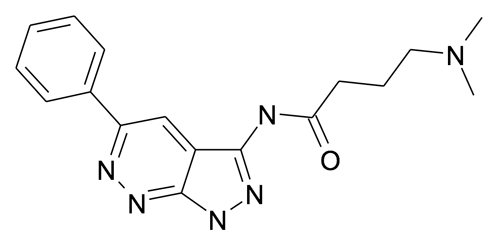 4-Dimethylamino-N-(5-phenyl-1H-pyrazolo[3,4-c]pyridazin-3-yl)-butyramide