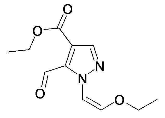 1-((Z)-2-Ethoxy-vinyl)-5-formyl-1H-pyrazole-4-carboxylic acid ethyl ester