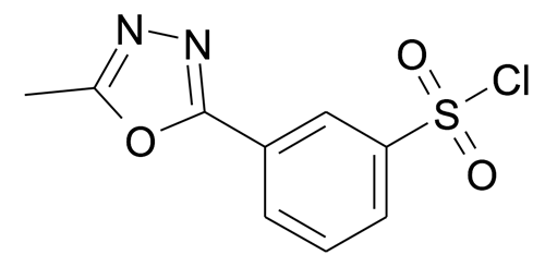 3-(5-Methyl-[1,3,4]oxadiazol-2-yl)-benzenesulfonyl chloride