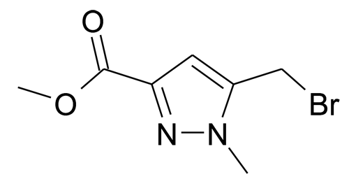 5-Bromomethyl-1-methyl-1H-pyrazole-3-carboxylic acid methyl ester