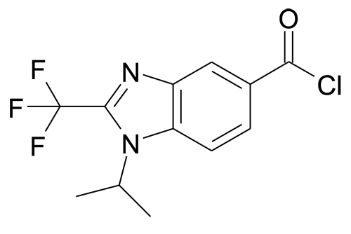 1-Isopropyl-2-trifluoromethyl-1H-benzoimidazole-5-carbonyl chloride