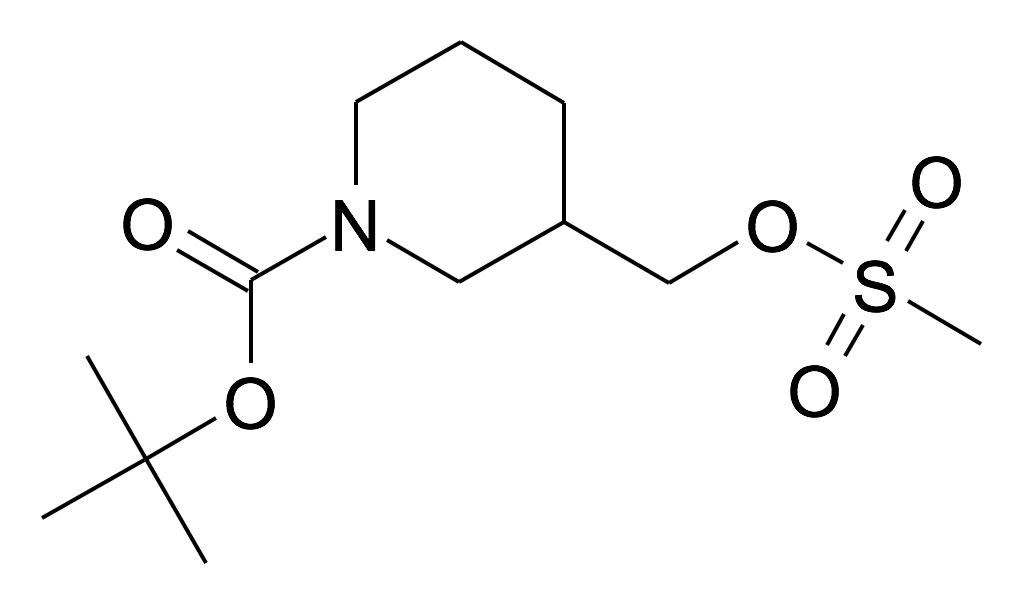 162166-99-6 | MFCD06795963 | 3-Methanesulfonyloxymethyl-piperidine-1-carboxylic acid tert-butyl ester | acints