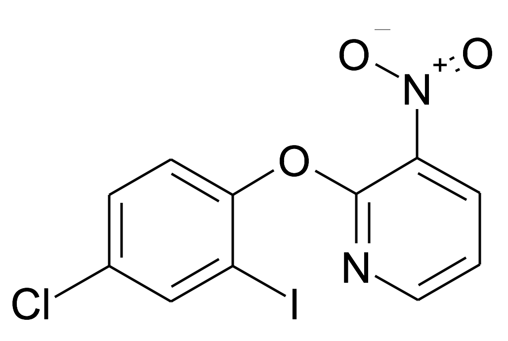 2-(4-Chloro-2-iodo-phenoxy)-3-nitro-pyridine