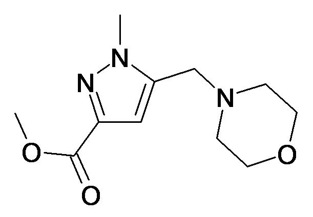 1-Methyl-5-morpholin-4-ylmethyl-1H-pyrazole-3-carboxylic acid methyl ester