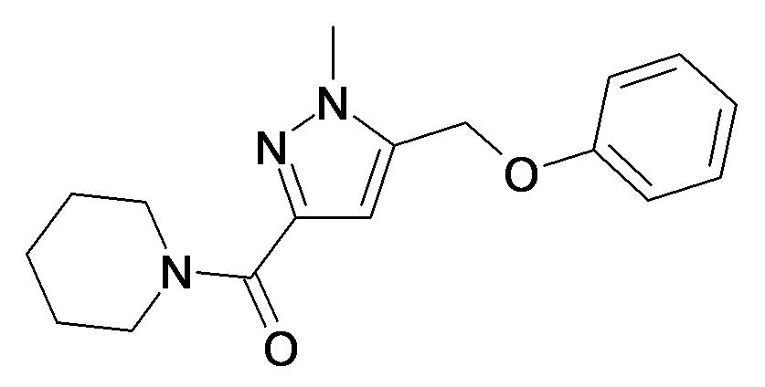 (1-Methyl-5-phenoxymethyl-1H-pyrazol-3-yl)-piperidin-1-yl-methanone