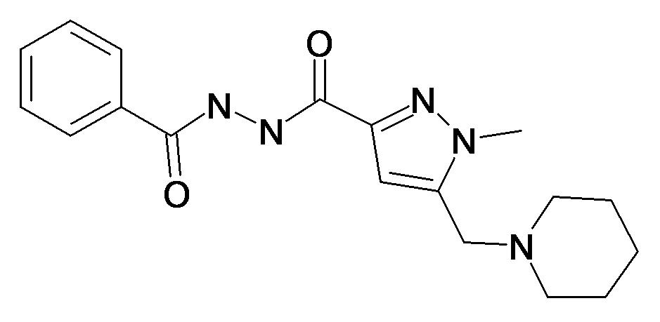 1-Methyl-5-piperidin-1-ylmethyl-1H-pyrazole-3-carboxylic acid N'-benzoyl-hydrazide