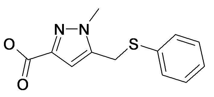 1-Methyl-5-phenylsulfanylmethyl-1H-pyrazole-3-carboxylic acid