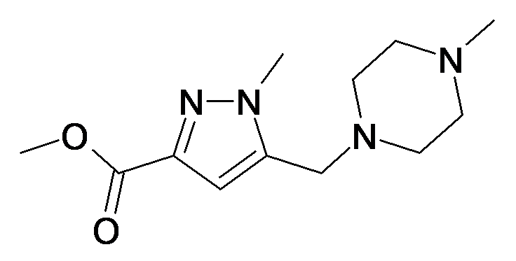 1-Methyl-5-(4-methyl-piperazin-1-ylmethyl)-1H-pyrazole-3-carboxylic acid methyl ester