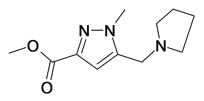 1-Methyl-5-pyrrolidin-1-ylmethyl-1H-pyrazole-3-carboxylic acid methyl ester