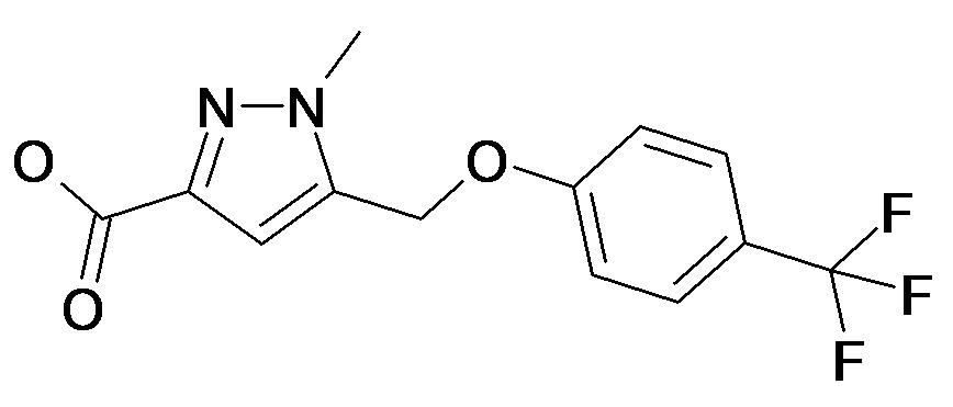 1-Methyl-5-(4-trifluoromethyl-phenoxymethyl)-1H-pyrazole-3-carboxylic acid