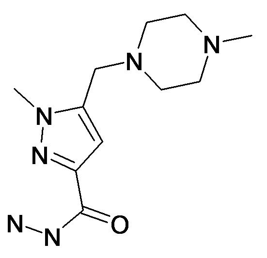 1-Methyl-5-(4-methyl-piperazin-1-ylmethyl)-1H-pyrazole-3-carboxylic acid hydrazide