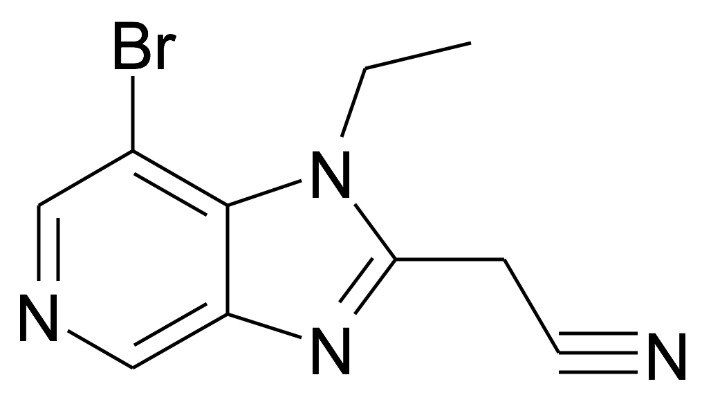 2-(7-Bromo-1-ethyl-1H-imidazo[4,5-c]pyridin-2-yl)-acetonitrile