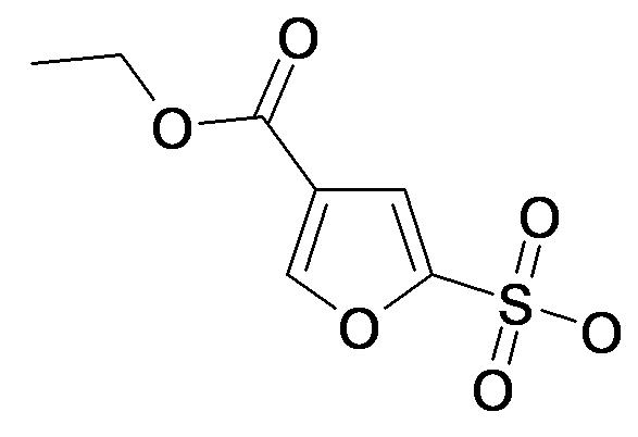 5-Sulfo-furan-3-carboxylic acid ethyl ester