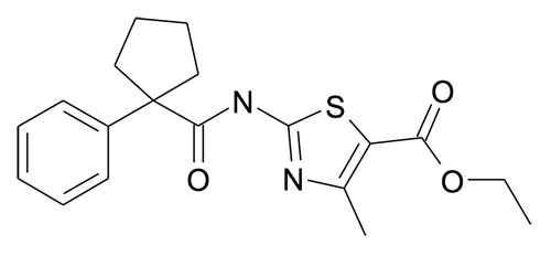 4-Methyl-2-[(1-phenyl-cyclopentanecarbonyl)-amino]-thiazole-5-carboxylic acid ethyl ester