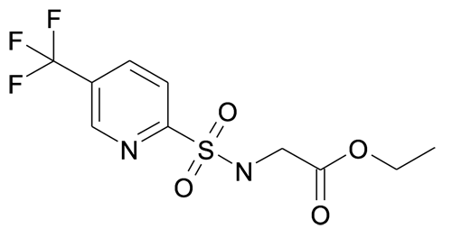 (5-Trifluoromethyl-pyridine-2-sulfonylamino)-acetic acid ethyl ester